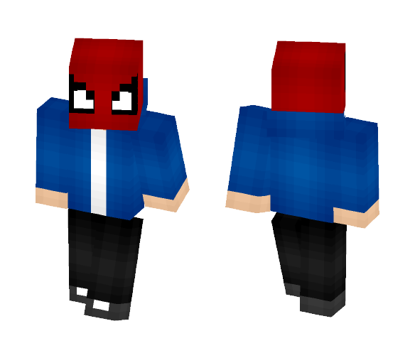 Me With Spidey Mask - Male Minecraft Skins - image 1