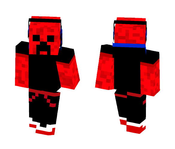 Cool Red Creeper - Male Minecraft Skins - image 1