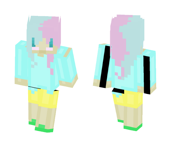 Cotton Candy Girl - Girl Minecraft Skins - image 1