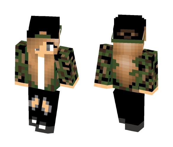 Camo Girl - Girl Minecraft Skins - image 1