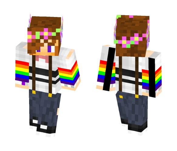 Flower Crown Boy - Boy Minecraft Skins - image 1