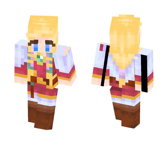 Skyward Sword Zelda - Female Minecraft Skins - image 1
