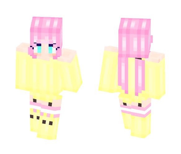 Yellow Sweater With Pink Pigtails - Female Minecraft Skins - image 1