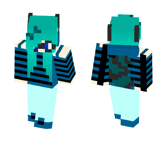 Blue Raccoon Girl - Girl Minecraft Skins - image 1