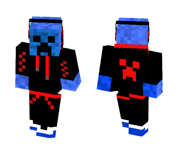 Cool Blue Creeper - Male Minecraft Skins - image 1