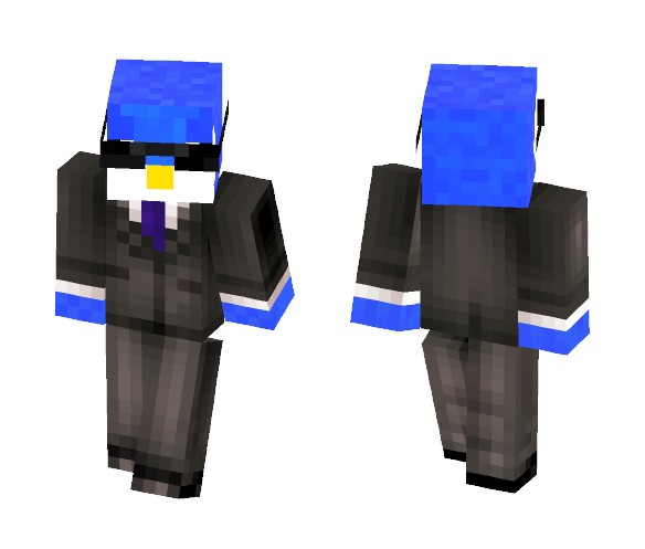 piplup in a suit - Male Minecraft Skins - image 1