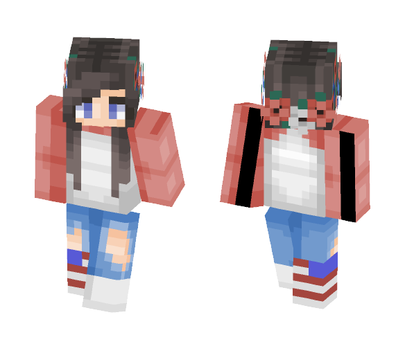 fourth of july (kill me pls) - Female Minecraft Skins - image 1