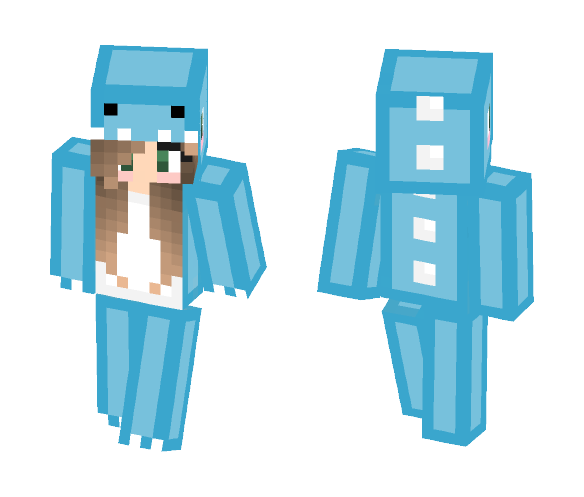Dino Girl//Blue - Female Minecraft Skins - image 1