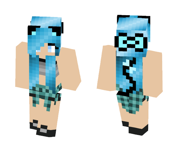 Blue neko - Female Minecraft Skins - image 1