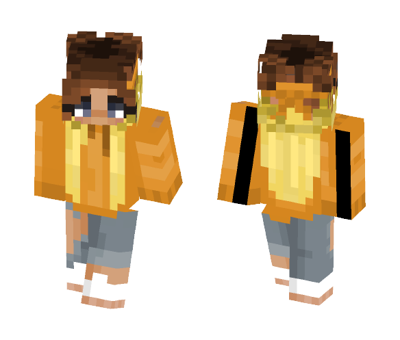 Ombre hair girl - Color Haired Girls Minecraft Skins - image 1