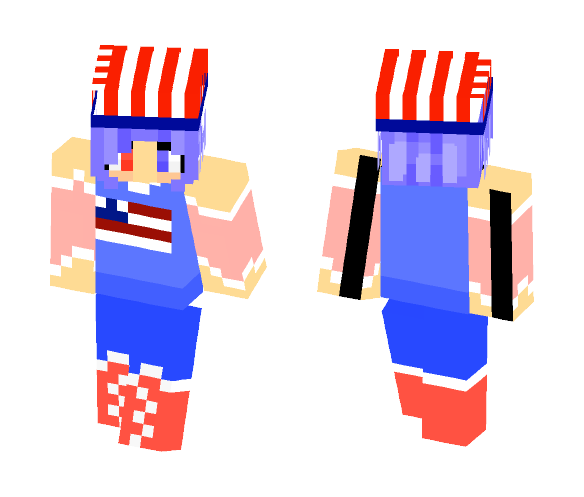 Happy 4th Of July! - Female Minecraft Skins - image 1