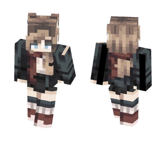 -Red scarf- - Female Minecraft Skins - image 1