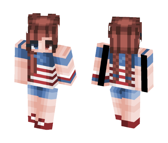 ♡ Happy 4th of July ♡ - Female Minecraft Skins - image 1