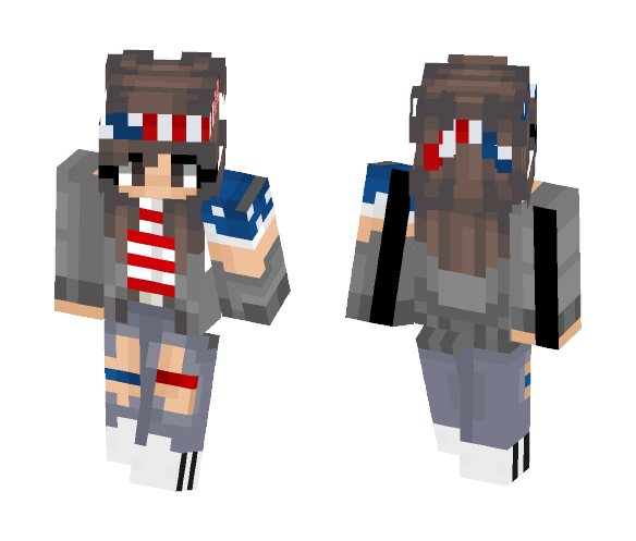 Happy~4th-Of•July~ - Female Minecraft Skins - image 1