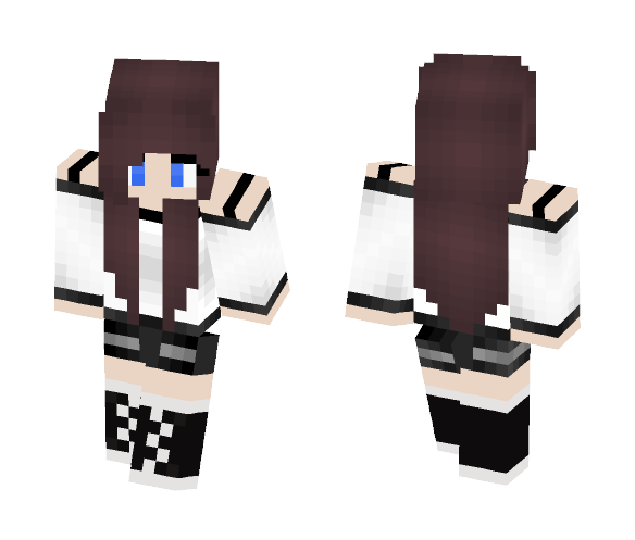 [Autumn] Brown Hair Girl - Color Haired Girls Minecraft Skins - image 1