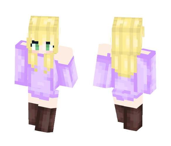 Pastel Purple Sweater Dress - Female Minecraft Skins - image 1