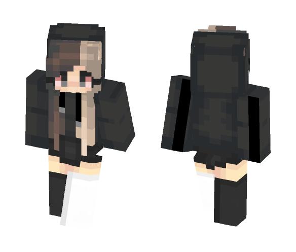 Hooded version. // trashyy - Female Minecraft Skins - image 1