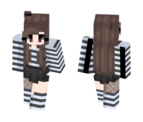 Stripes~ For Chubeh - Female Minecraft Skins - image 1