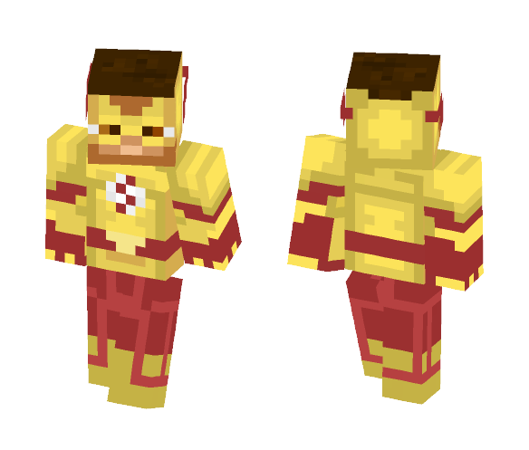 Kid Flash (Wally West) - Male Minecraft Skins - image 1