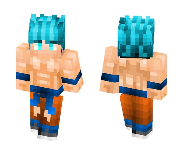 Goku Super Saiyan Blue - Male Minecraft Skins - image 1
