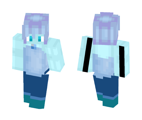 blue akoya pearl fixed hair mistake - Interchangeable Minecraft Skins - image 1