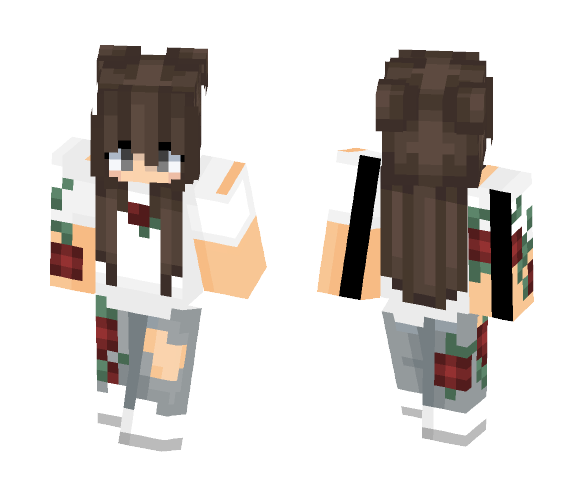 § ♥Red roses♥ § - Female Minecraft Skins - image 1