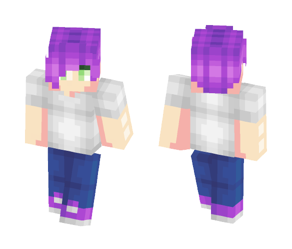 Cool Purple Guy Skin - Male Minecraft Skins - image 1
