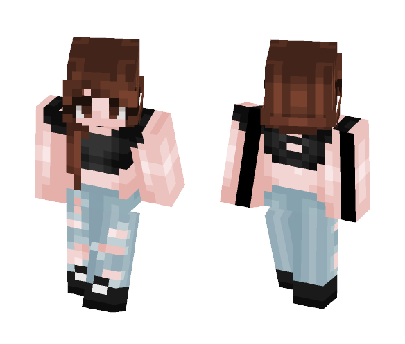Black Top - Female Minecraft Skins - image 1