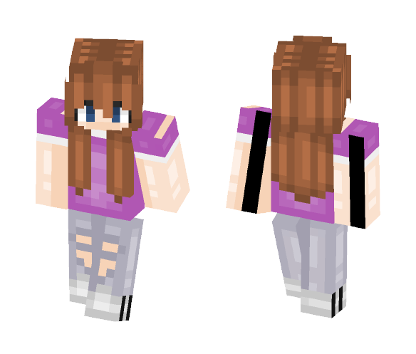 Purple    Zombie Danny - Female Minecraft Skins - image 1