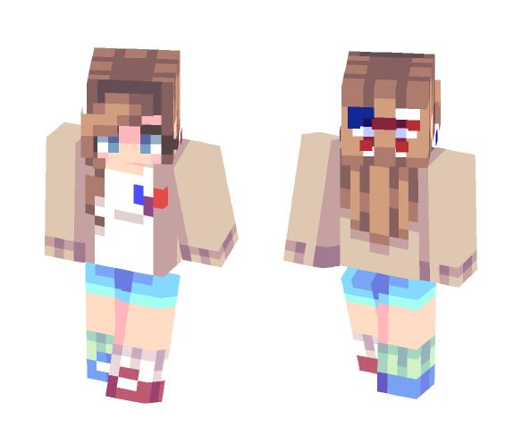 July 4th | Leaving // lazy skin - Female Minecraft Skins - image 1