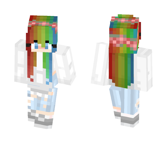 Rainbow Dreams - Female Minecraft Skins - image 1