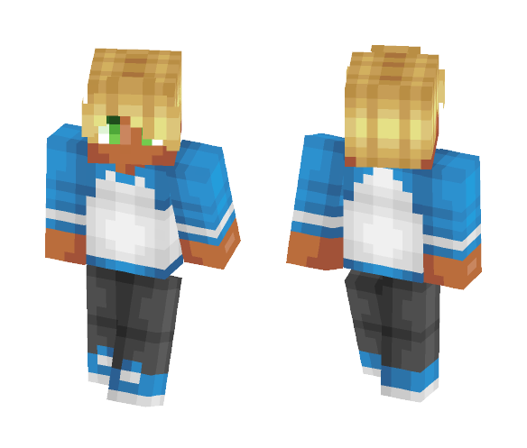 Blue Blonde Boy Skin - Male Minecraft Skins - image 1