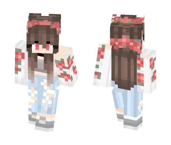 Demon Cute Girl - Cute Girls Minecraft Skins - image 1