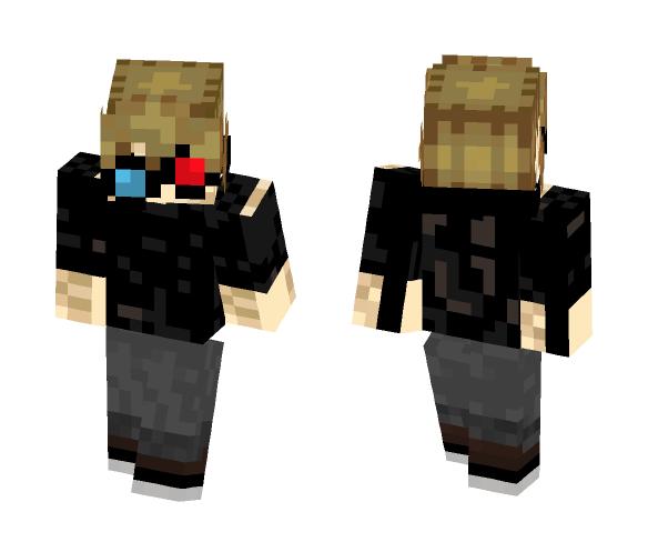 Black hoodie Gogles - Male Minecraft Skins - image 1