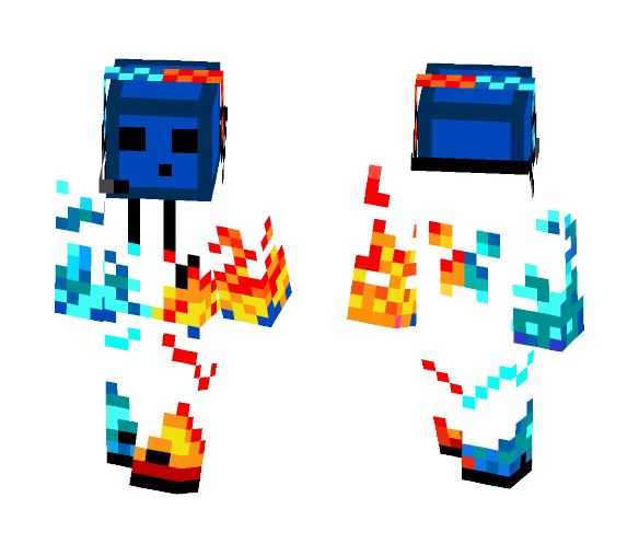 Really cool fire ice slime - Male Minecraft Skins - image 1