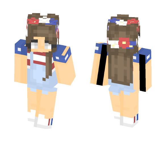 Happy (early) 4th of July! (MURICA) - Female Minecraft Skins - image 1