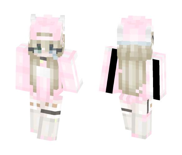 Pastel Kitten Girl - Girl Minecraft Skins - image 1