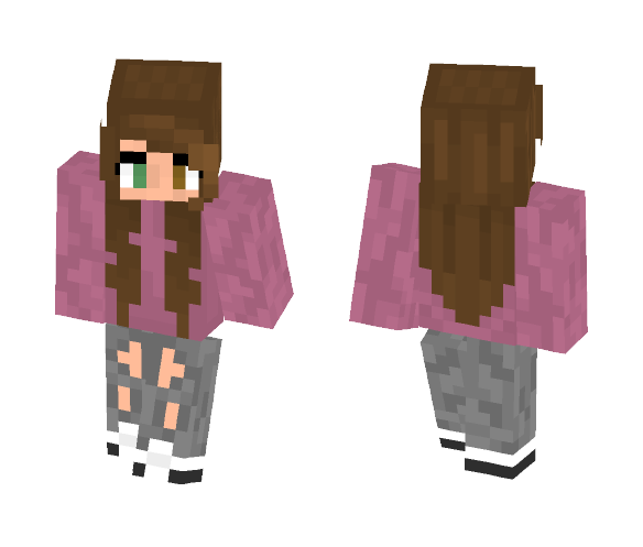 Pink SHirt Girl ¯_(ツ)_/¯ - Female Minecraft Skins - image 1