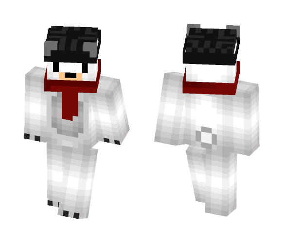 Polar Bear w/ Scarf and Hat - Interchangeable Minecraft Skins - image 1