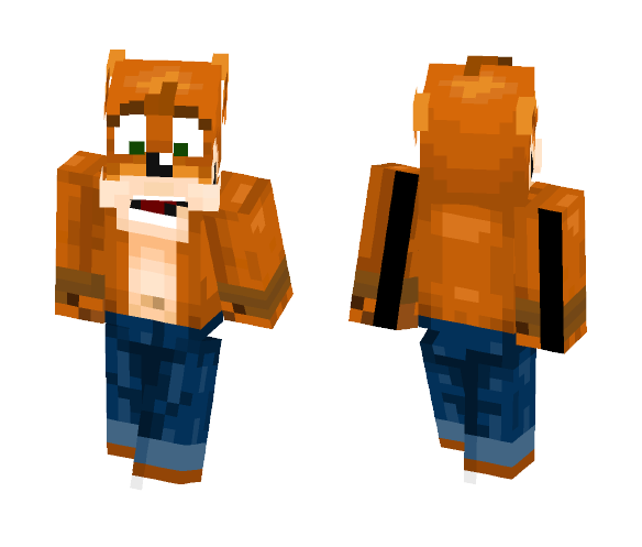 Crash Bandicoot (request) - Male Minecraft Skins - image 1