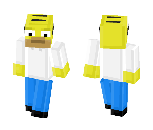 Homer Simpson - Male Minecraft Skins - image 1