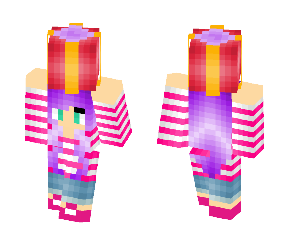 Gift Above Her Head - Female Minecraft Skins - image 1