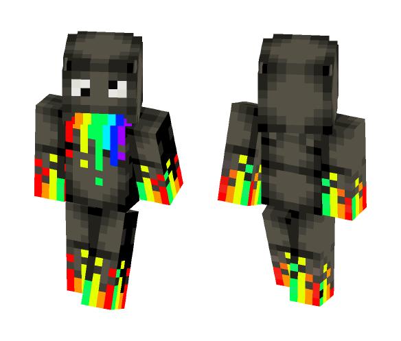 Just Rainbow Derp - Male Minecraft Skins - image 1