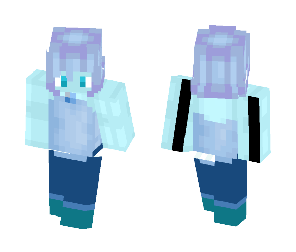 blue akoya pearl fixed mistakes - Interchangeable Minecraft Skins - image 1