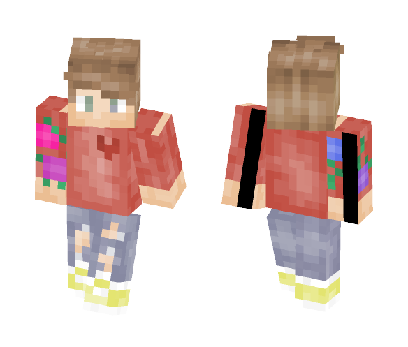 o3o Red T-Shirt Boy - Boy Minecraft Skins - image 1