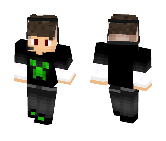 Guto from GUTONIVERSO channel fixed - Male Minecraft Skins - image 1