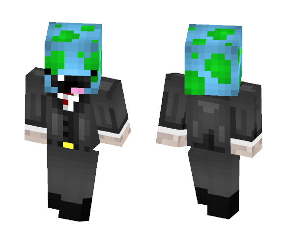 Pug in Suit with Derpy World Mask - Interchangeable Minecraft Skins - image 1