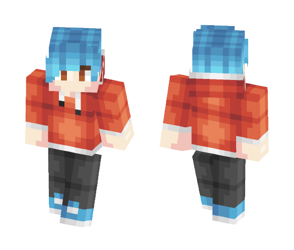 Cool Blue Dude Skin - Male Minecraft Skins - image 1