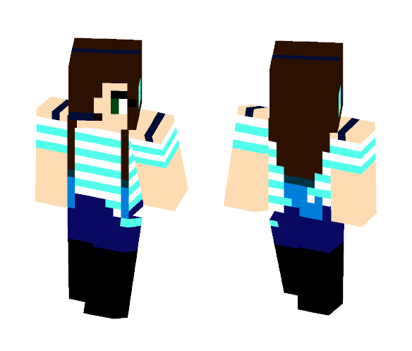 Blue Gamer Girl - Female Minecraft Skins - image 1