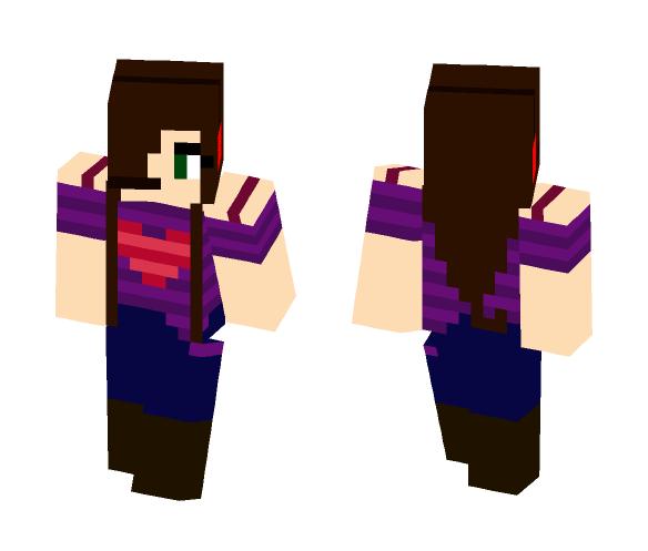 Gamer Heart Girl - Female Minecraft Skins - image 1
